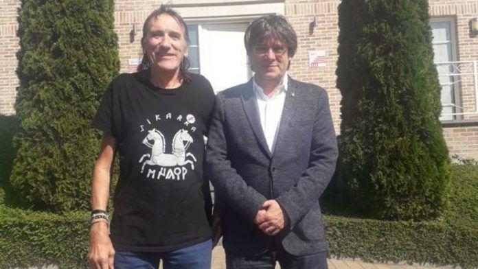Fredi Bentanachs, cofundador de Terra Lliure, con Puigdemont